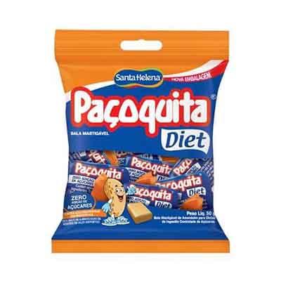 Bala Diet 50g Santa Helena/Paçoquita pacote PCT