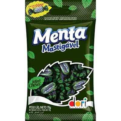 Bala mastigável sabor menta 70g Dori pacote PCT
