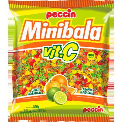 Bala Mini Vit C 540g Peccin pacote PCT