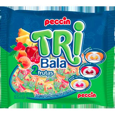 Bala sabor 2 frutas 500g Tribala/Peccin pacote PCT