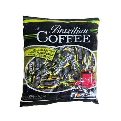 Bala sabor café 500g Florestal Brazilian Coffe pacote PCT