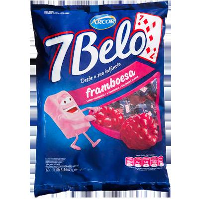 Bala sabor framboesa 600g Arcor 7Belo pacote PCT