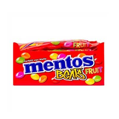 Bala sabor fruit beats 18 unidades de 20g Mentos caixa CX