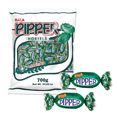 Bala sabor hortelã 600g Pipper pacote PCT