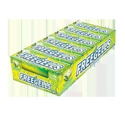 Bala sabor melão 12 unidades Freegells caixa CX
