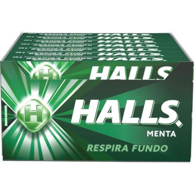 Bala sabor Menta 21 unidades Halls caixa CX