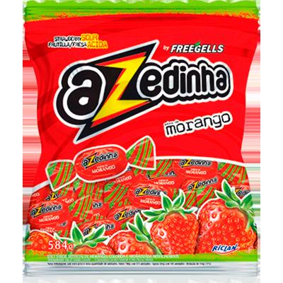 Bala sabor morango 584g Azedinha/Freegells pacote PCT