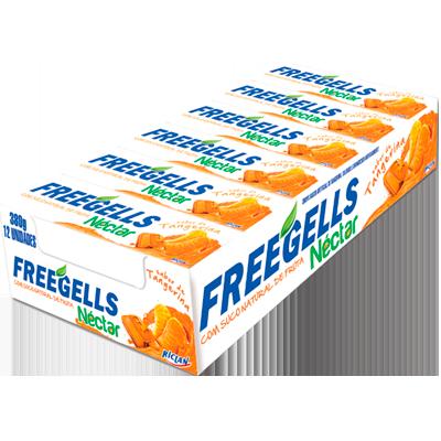 Bala sabor tangerina 12 unidades Néctar/Freegells caixa CX