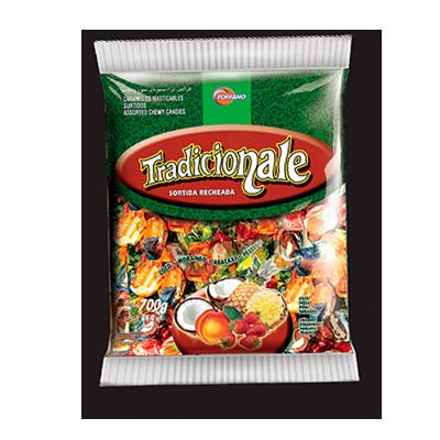 Bala sabor tradicional 600g Toffano pacote PCT