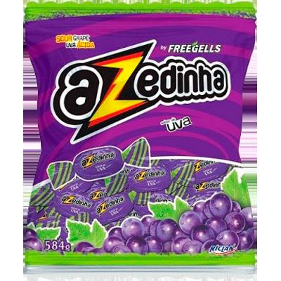 Bala sabor uva 584g Azedinha/Freegells pacote PCT