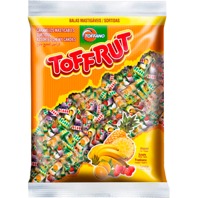 Bala sabores sortidos 250g Toffano/Toffrut pacote PCT