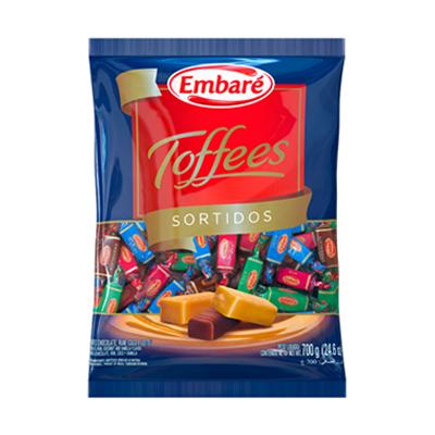 Bala sabores sortidos 600g Embaré/Toffes pacote PCT