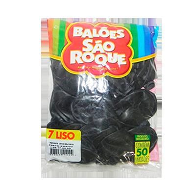Balão preto 50 unidades São Roque pacote PCT