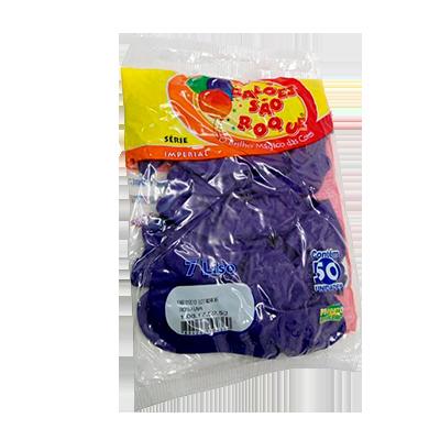 Balão roxo uva 50 unidades São Roque pacote PCT