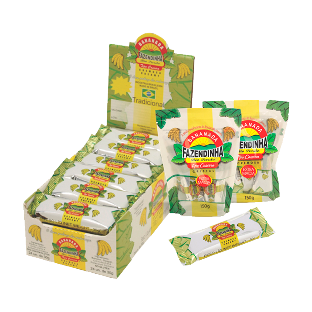 Bananinha  24 unidades de 30g Fazendinha/Nutrivita caixa CX