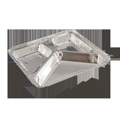 Bandeja de alumínio 900ml com 3 divisórias 100 unidades Wyda caixa CX