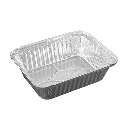 Bandeja de alumínio retangular 1000ml 100 unidades Wyda caixa CX