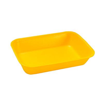 Bandeja de isopor funda amarela 210x140x28 400 unidades Copobras caixa CX