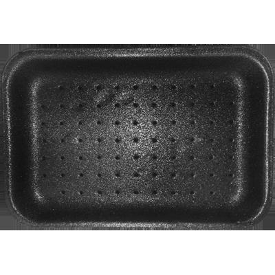 Bandeja de isopor preta absorvente CFA-002 400 unidades Braspack caixa CX