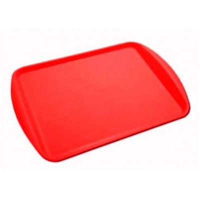 Bandeja plástica retangular 44 x 31 cm vermelha unidade Supercron  UN