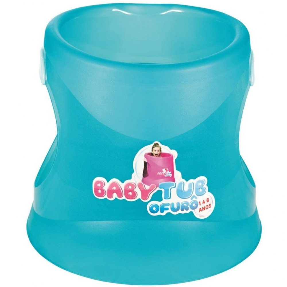 Banheira Infantil Ofurô Cristal BBT071 Azul  unidade Baby Tub  UN