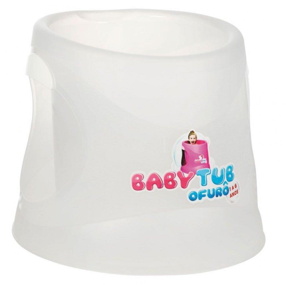Banheira Infantil Ofurô Cristal BBT072 Transparente unidade Baby Tub  UN