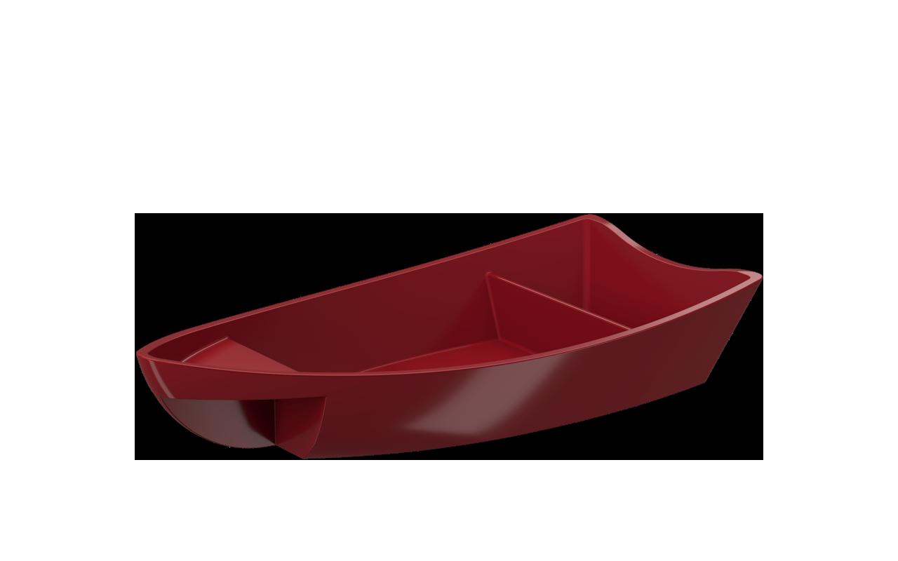 Barco para Sushi Vermelho 27,9x13,6x5,1 Polipropileno (PP) unidade Coza  UN
