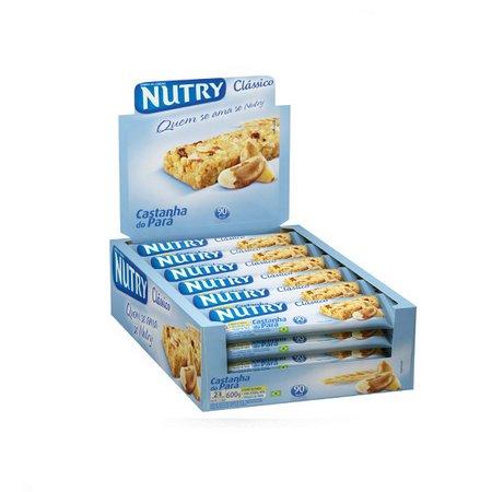 Barra de cereais castanha do pará 24 unidades de 22g Nutry caixa CX