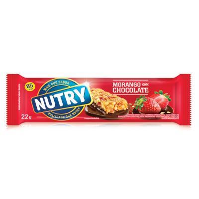 Barra de Cereais Morango e Chocolate 22g Nutry  UN