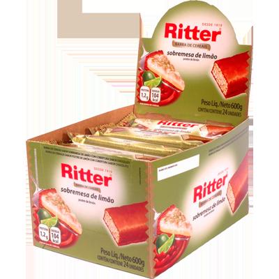 Barra de Cereais Sobremesa de Limão 24 unidades de 25g Ritter caixa CX