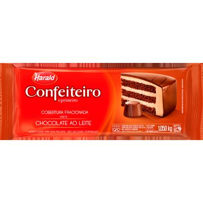 Cobertura de Chocolate ao leite 1,05kg Confeiteiro/Harald  UN