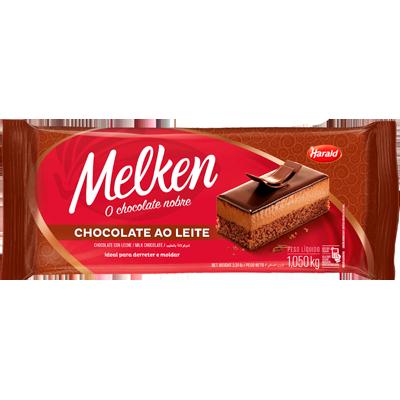 Barra de chocolate ao Leite 1,050kg Harald/Melken  UN