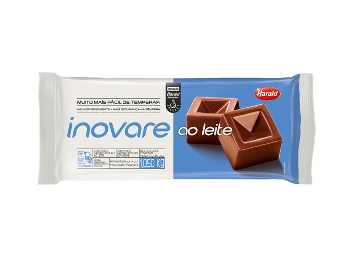Barra de chocolate ao leite 1kg Inovare/Harald  UN