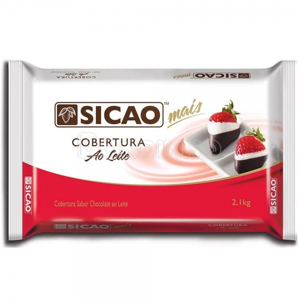 Barra de chocolate ao leite 2,05kg Sicao Mais  UN