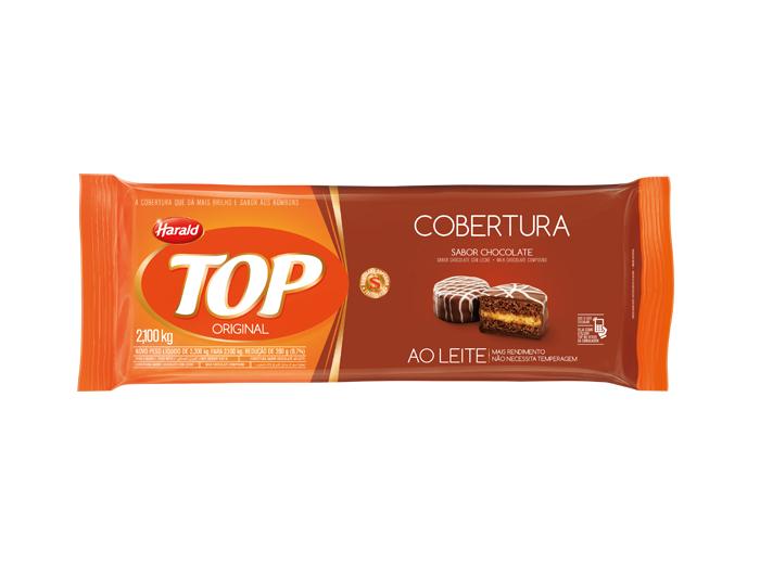 Barra de chocolate ao leite 2,1kg Harald/Top  UN