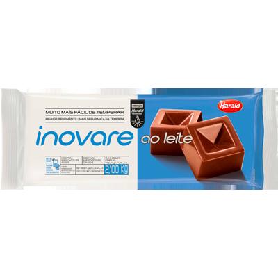 Barra de chocolate ao leite 2,1kg Inovare/Harald  UN