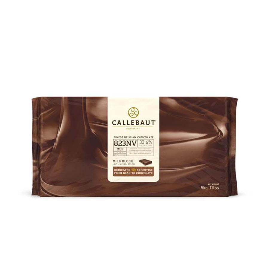 Barra de chocolate ao leite 33,6% 5kg Barry Callebaut  UN