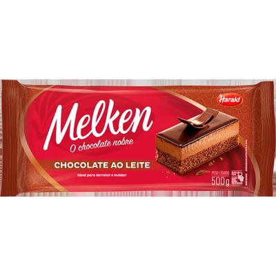 Barra de chocolate ao leite 500g Harald/Melken  UN