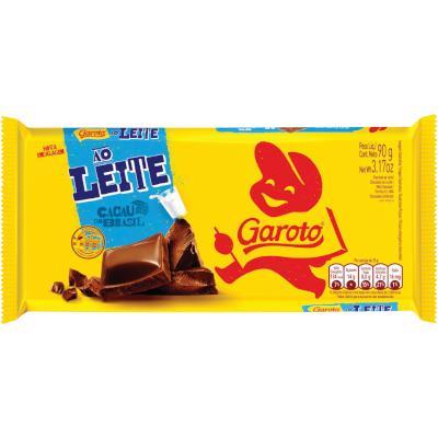 Barra de Chocolate ao Leite 90g Garoto  UN