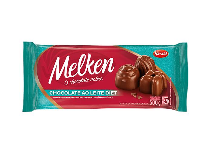 Barra de chocolate ao leite diet 500g Harald/Melken  UN