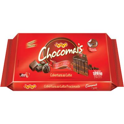 Barra de chocolate ao leite para cobertura 1,01kg Chocomais  UN