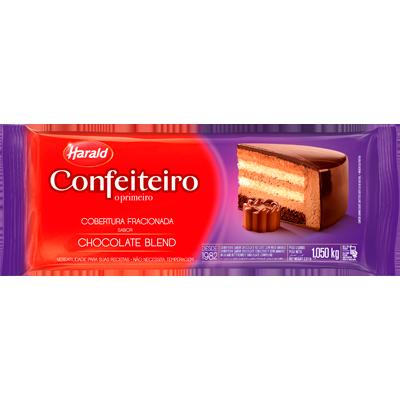Barra de chocolate blend 1,05kg Confeiteiro/Harald  UN