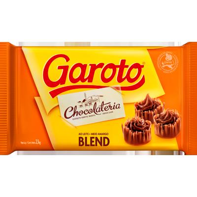 Barra de chocolate blend 2,1kg Garoto  UN