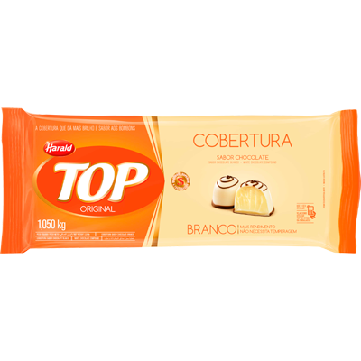Barra de chocolate branco 1,050kg Harald/Top  UN