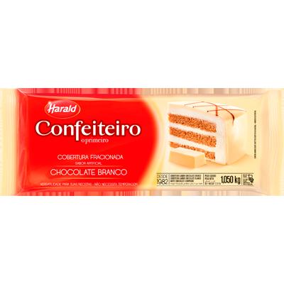 Barra de chocolate branco 1,05kg Confeiteiro/Harald  UN