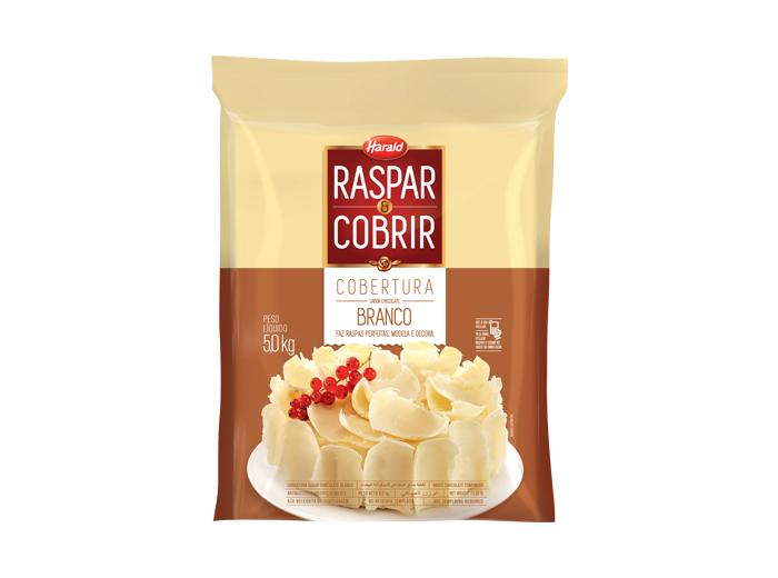 Barra de chocolate branco 5kg Raspar e Cobrir/Harald  UN