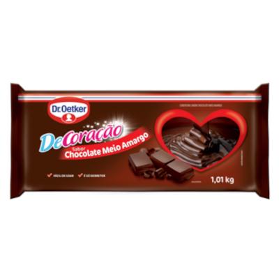 Barra de chocolate meio amargo 1,01kg Dr. Oetker  UN
