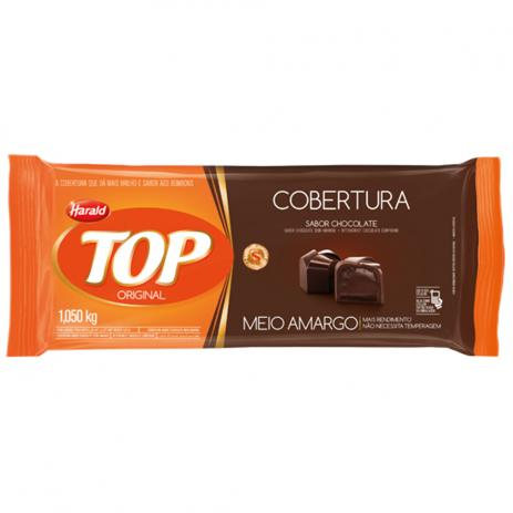 Barra de chocolate meio amargo 1,050kg Harald/Top  UN