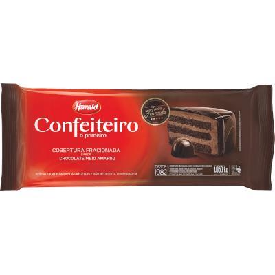 Cobertura de chocolate Meio Amargo 1,05kg Confeiteiro/Harald  UN