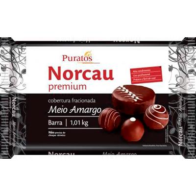 Barra de chocolate meio amargo 1,1kg Puratos  UN